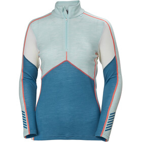 Helly Hansen Lifa Merino 1/2 Zip Shirt Dame blue wave